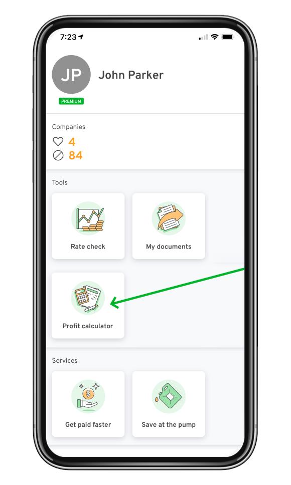 profit calculator on mobile app