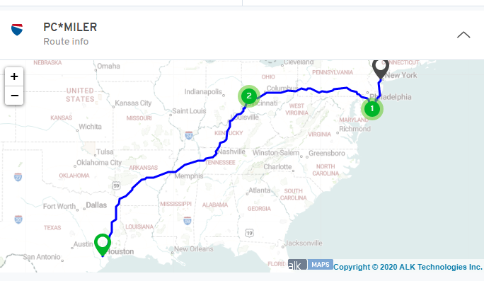 mileage mapping routing